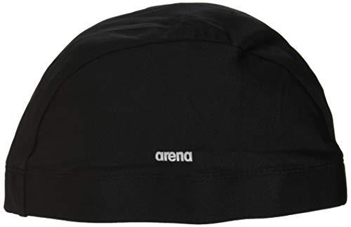 arena(アリーナ) 水泳用 テキスタイル キャップ ブラック ARN8609 BKSV