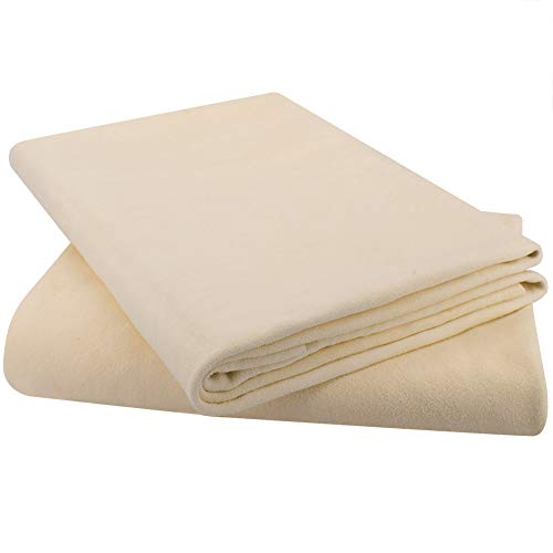 """(2 Pack)-Natural Chamois Drying Cloth Car Drying Towel, Leather Chamois Cloth Shammy Drying Towel Dryer for Car Wash Care Super Absorbent Fast Chamois Car Wash Cloth(L:24"""" x35'' 2-Pack)"""
