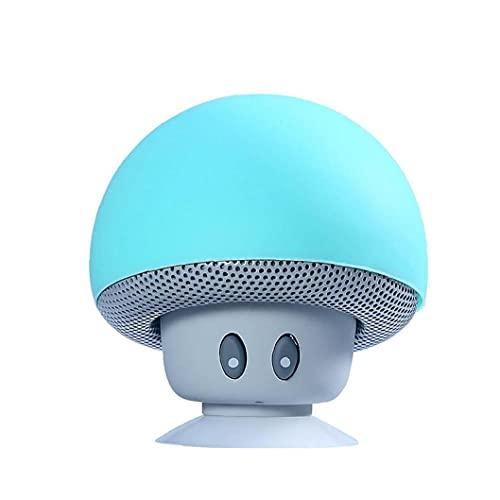 Dibujos animados de hongos cabeza Bluetooth Estéreo Estéreo Bluetooth Creativo Escritorio portátil Super Lindo Soporte de teléfono móvil Batería incorporada (verde) Componentes de la computadora