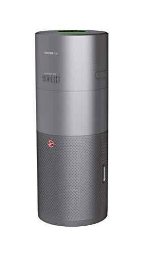 Hoover H-PURIFIER 700 - HHP75CAH - Purificador aire inteligente, Difusor y humidificador, Multisensores, Wi-Fi, Filtro triple capa (hepa), Inactivación polen, Alertas CO, CADR 330m3/h, Gris