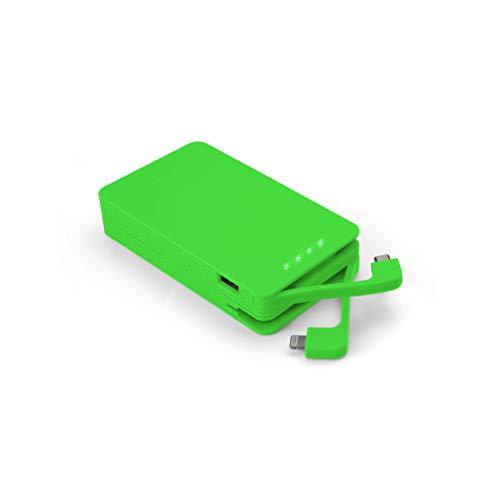 Juice Weekender High Capacity Portable Power Bank with Built In Connectors, iPhone, Samsung, Huawei, iPad, 8400 mAh, Green