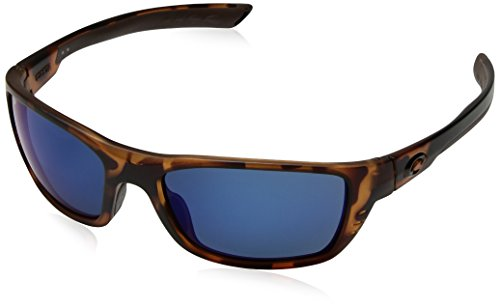 Costa Del Mar Men's Whitetip Rectangular Sunglasses, Retro Tortoise/Blue Mirror-580P, 58 mm