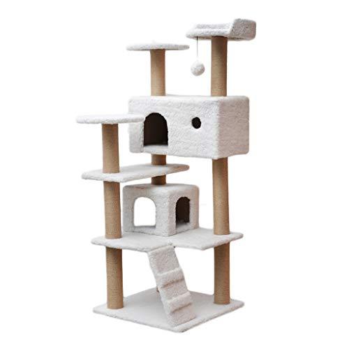 Torre de gato árbol de gato Árboles de actividades para gatos - Torre Gato con sisal arañar puestos perchas Casas Escala que sube del gato Juego Centro de Actividades Condominio para gatos de varios n