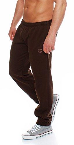 Hoppe Gennadi Herren Sporthose Trainingshose Jogginghose Pants Sweatpants,braun,Medium