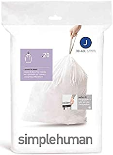 Simplehuman Bin Trash Can Bags Liners New 30-40l Litres Size J Box Pack of 20