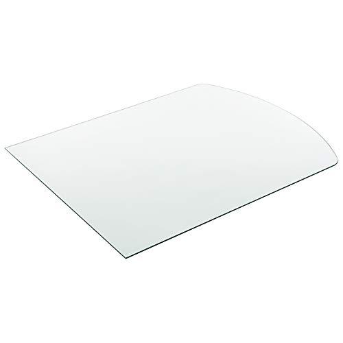 [neu.haus] Glasplatte 85x75cm Eckig Glasscheibe Tischplatte ESG Glas Kaminplatte Kaminglas DIY Tisch