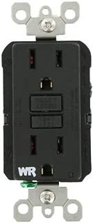 Leviton WR599-E 15-Amp 125-Volt SmartLock Pro Slim Weather-Resistant GFCI Receptacle, Black