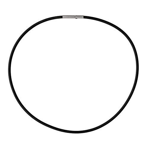 Ernstes Design KS3C - Corda in caucciù con chiusura a clic, 3,0 mm, in acciaio INOX