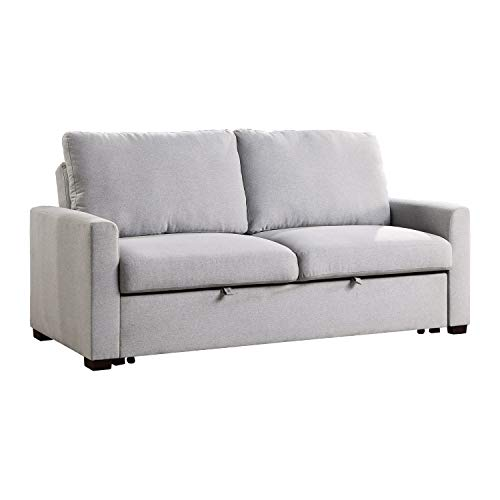 Lexicon Fairbon Convertible Studio Sofa Sleeper, Grey