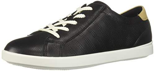 Ecco Damen LEISURE Sneaker, Schwarz (Black/Powder 50263), 40 EU