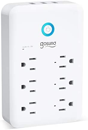 Smart Outlet Gosund Wall Outlet Extender 15A 1800W Multi WiFi Plug with 3 USB Ports 5V 3A 24W product image