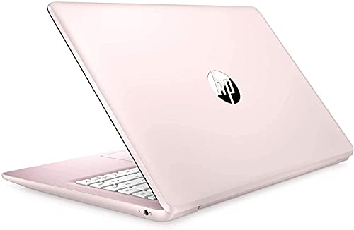 "2021 HP Stream 14"" HD Thin and Light Laptop, Intel Celeron N4000 Processor, 4GB RAM, 64GB eMMC, HDMI, Webcam, WiFi, Bluetooth, 1 Year Microsoft 365, Windows 10 S, Rose Pink, W/ IFT Accessories"