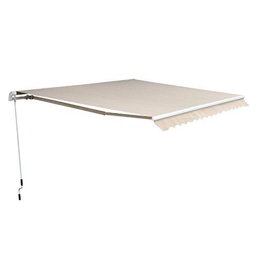 Outsunny Markise Alu-Markise Aluminium-Gelenkarm-Markise 3,5 x 2,5m