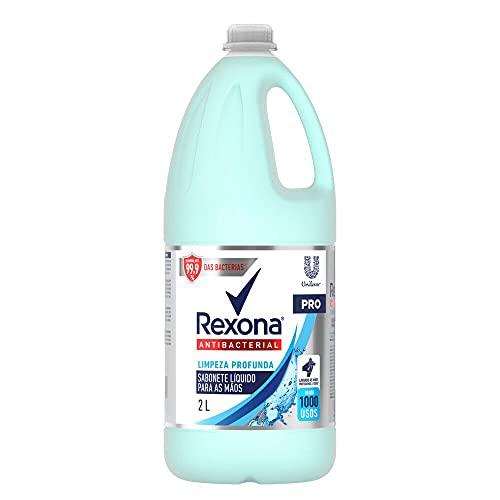 Sabonete Líquido Antibacterial para as Mãos Rexona Pro Limpeza Profunda Frasco 2l, Rexona