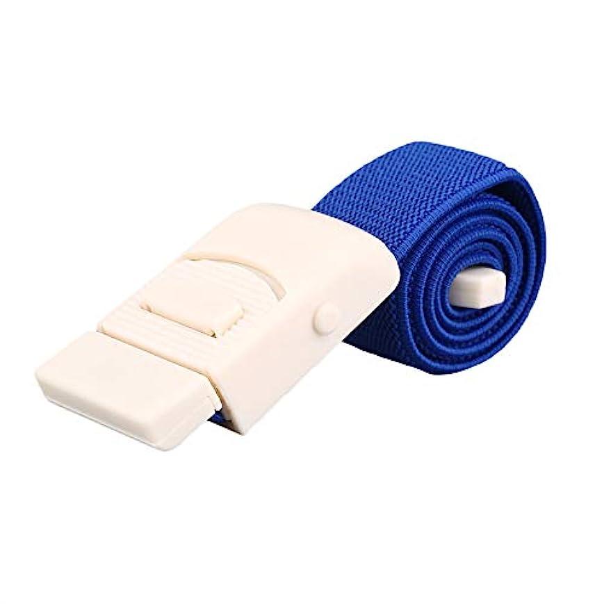 吐き出すうめきサポート応急処置医師、看護師、一般使用のための止血帯クイックリリースバックル-ブルー