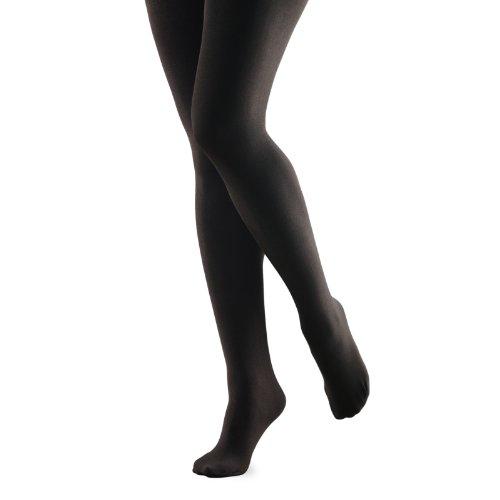 FootSmart Women's Fleece Lined Tights,black,small