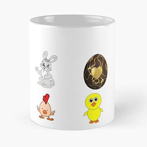 Generic Tim Janssen Easter Chicken Pack Bunny Best 11 oz Kaffeebecher - Nespresso Tassen Kaffee Motive !