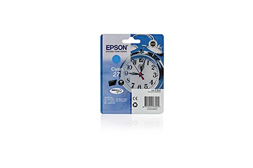 Originale Epson C13T27024010 / 27 cartucce d'inchiostro (ciano, capacità 3,6 ml) per Workforce WF-3620, WF-3640, WF-7110, WF-7610, WF-7620