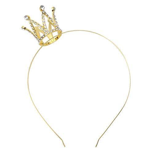 Freebily Corona Princesa Reina Niña Tiara Diadema Dorado para Cumpleaños Ceremonia Tocado...