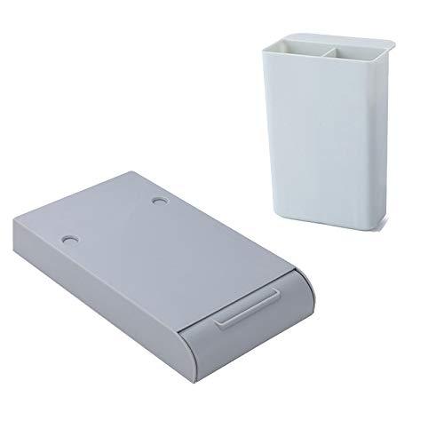 Cajón de gran capacidad/Caja de almacenamiento de cajón y portalápices/Caja de almacenamiento de escritorio/Bandeja oculta, adecuado para la oficina en casa de los estudiantes (2 Piezas) 🔥