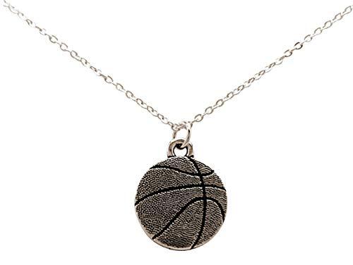 Gemshine Halskette Basketball Anhänger: Point, Shooting Guard, Small, Power Forward, Center Spieler, Trainer, Team. Silber oder vergoldet - Sportschmuck Made in Spain, Metall Farbe:Silber