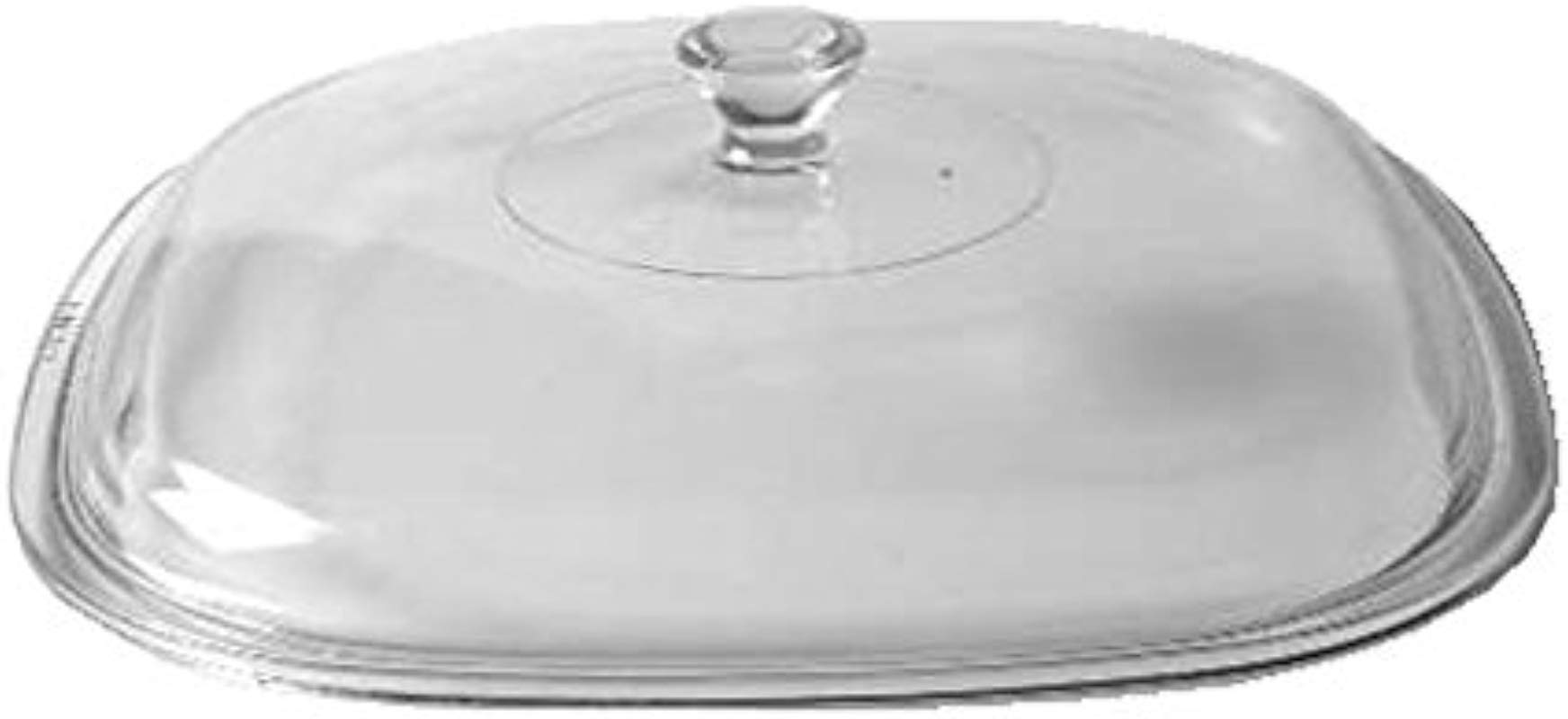 Corning Ware Pyrex Clear Square Glass Lid 9 1 4 Width P 10 C 1