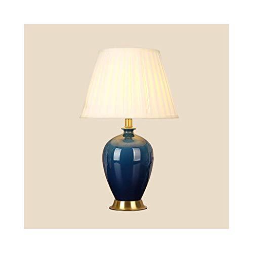 WFL-lámpara de escritorio Simple lámpara de mesa americano completo cobre Tela hielo Grieta de cerámica lámpara de mesa de estar Sala de Estudio dormitorio lámpara de cabecera de mesa decorativo Lámpa