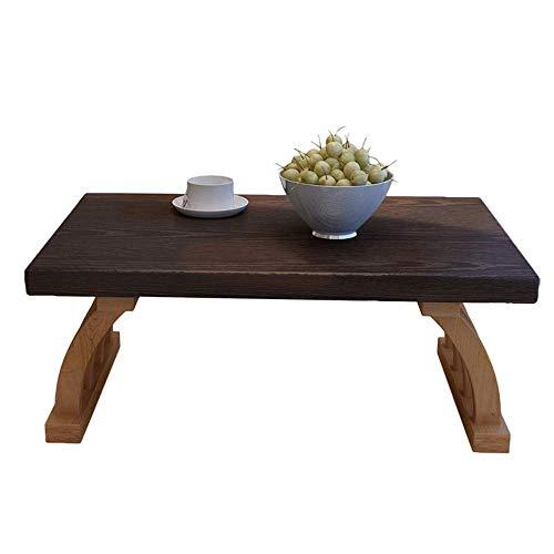 Axdwfd Table basse bois massif japonais paresseux table canapé salon snack table 2 tailles (taille : 60 * 40cm)