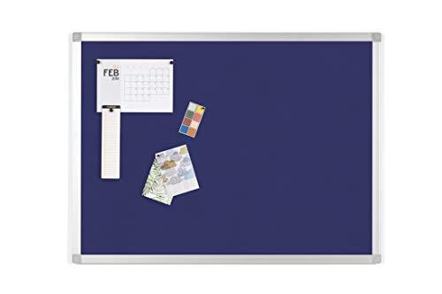 BoardsPlus - Tablero de Anúncios de Fieltro Azul, Con Marco de Aluminio