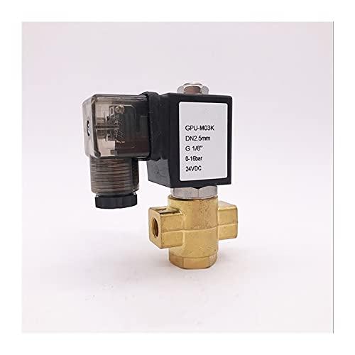 YIJIAN-UMBRELLA Normalmente Abierto 2Way Piloto Diafragma Válvula solenoide de latón Control de Flujo de Agua 1 / 8Inch 24VDC 2.5mm / 3mm 0-16BAR / 10BAR (Specification : 025 16bar, Voltage : AC24V)