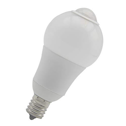 Eru E17 LED センサー 電球 人感センサー 赤外線センサー センサーライト 自動点灯 自動消灯 高輝度 高演色性 電球色2800k 1個入り …