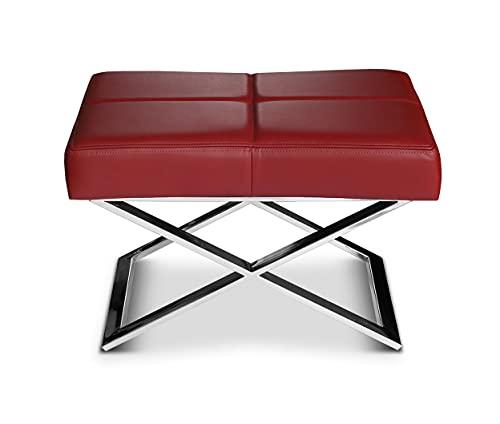 NEUERRAUM Cuero Bauhaus Asiento Ocre, Ajustable en Taburete,