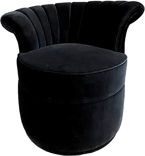 Casa Padrino Sillón Art Deco de Lujo Izquierda Sillón de Sala de Estar - Muebles de Sala de Estar Art Deco, Color:Negro