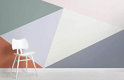 Mural de pared geométrico de gran tamaño multicolor 400×280cm