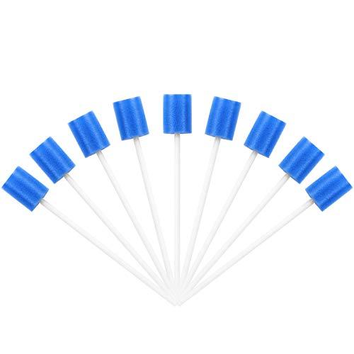 ROSENICE Oral Tupfer Einweg 100 Stück Mundpflege Tupfer Mund Tupfer Zahnreinigung Mund Schwamm (blau)