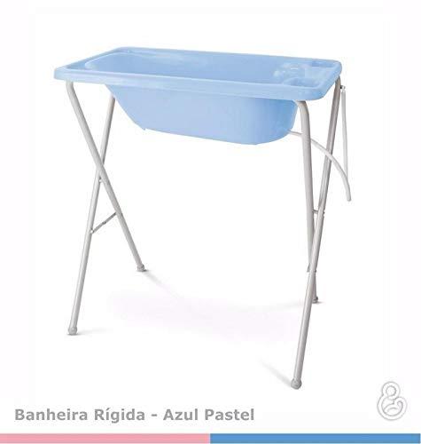 Banheira para Bebê Plástica com Suporte - Galzerano - Azul
