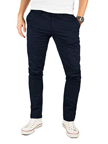 Yazubi Chino Hose Herren Blau - Kyle by Yzb Jeans - Blaues Business Stoff Chinohose für Männer Stretch Chinos, Blau (Night Sky 4R193924), W32/L34