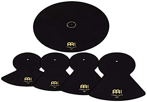 Meinl Cymbals Mute Pack For 14″, 16″, 18″, 20″ Cymbal Sizes – Quiet Drum Set Practice with Reduced Volume and Stick Attack (MCM-14161820)
