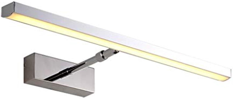 LQ LED Bad Beleuchtung Spiegel Scheinwerfer Edelstahl einziehbare Badezimmerspiegel Lampe Kabinett Licht (Farbe   Warmes licht, gre   70cm)