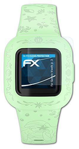 atFoliX Schutzfolie kompatibel mit Garmin Vivofit jr. 3 Folie, ultraklare FX Bildschirmschutzfolie (3X)