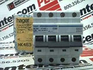 HAGER NK463 Discontinued by Manufacturer, Circuit Breaker, 63 AMP, 4 Pole, IEC, DIN Rail Mount