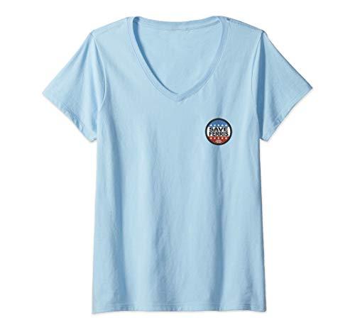 Womens Ferris Bueller's Day Off Save Ferris President Pocket V-Neck T-Shirt