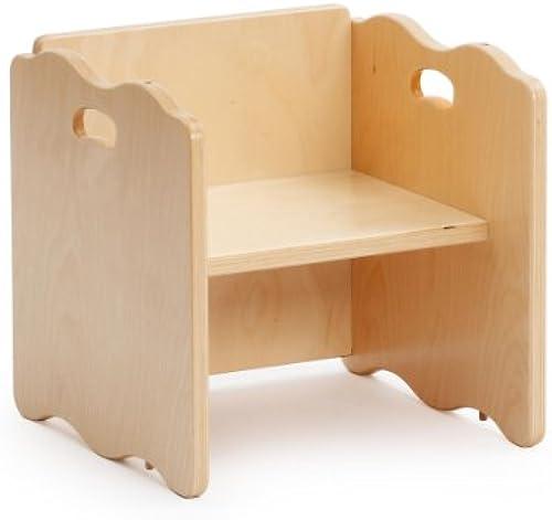 Erzi Multifunktionsstuhl, Holzstuhl, verstellbarere Kinderstuhl, aus Holz, Ma 34 x 34 x 34 cm, natur