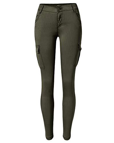 QitunC Mujer Outdoor Multi-Bolsillo Leggings Pantalones