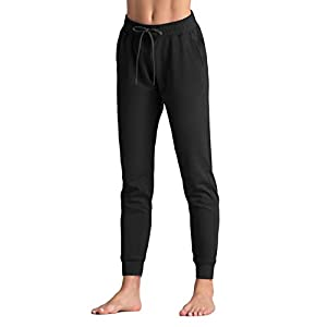 Women's Tapered Lounge Sweatpants Lose fit Workout Joggers Pants with...