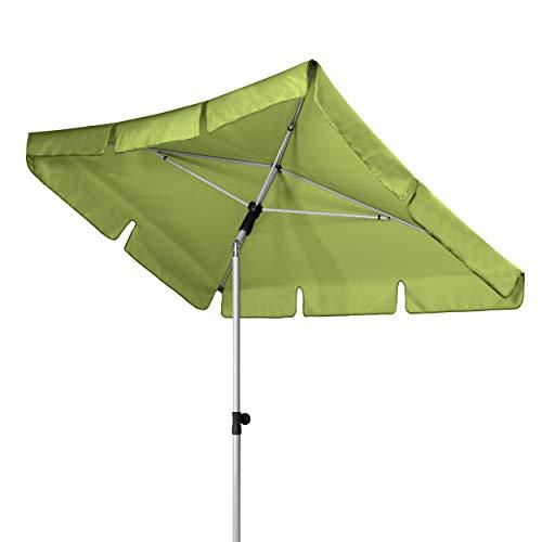 Doppler Active – Rechteckiger Sonnenschirm für Balkon und Terrasse – Knickbar – 180x120 cm – Fresh Green