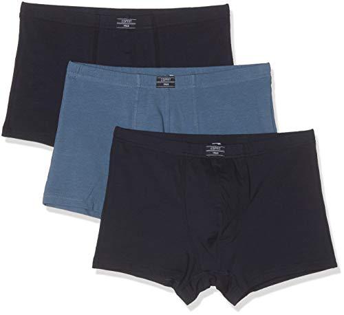 ESPRIT Herren Auburn 3shorts Boxershorts, Blau (Navy 400), Medium (Herstellergröße: M) (3er Pack)