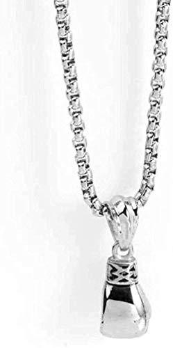 Collar Collar con colgante de acero de titanio Collar con colgante de acero inoxidable Guantes de boxeo pequeños de moda Collar con colgante de acero de titanio Regalo para mujeres Hombres