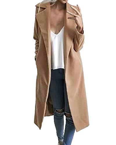 Auxo Women's Trench Coat-Camel