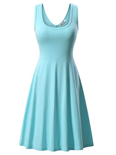 MSBASIC Kleid Hellblau Casual Kleider Damen Freizeitkleid Trägerkleid Sommerkleid Frauen Kleid Blau Klein